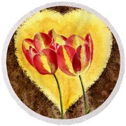 From Tulip With Love Round Beach Towel