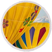 Front Range Color Round Beach Towel