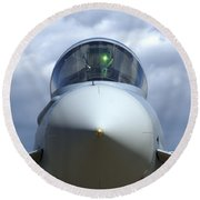 Front View Of A Eurofighter Typhoon Round Beach Towel