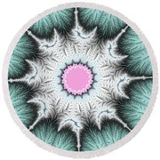 Frost Flower Round Beach Towel