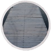 Frosted Dock Round Beach Towel
