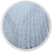 Frosted Woodgrain Round Beach Towel