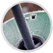 Frosty Metal Round Beach Towel