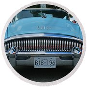 Frowning Buick Round Beach Towel