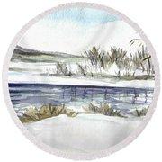 Frozen Round Beach Towel