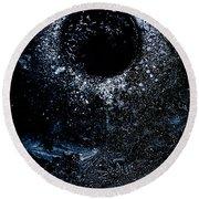 Frozen Cosmos Round Beach Towel