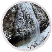 Frozen Narada Falls Round Beach Towel