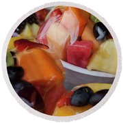 Fruit Cup Round Beach Towel