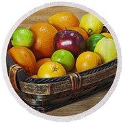 fruits with vitamin C Round Beach Towel
