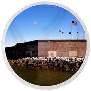 Ft Sumter  Round Beach Towel