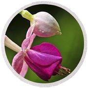 Fuchsia Flower Round Beach Towel