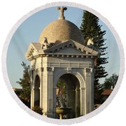 Fulford Fountain 2012 Round Beach Towel