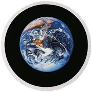 Full Earth From Space Round Beach Towel