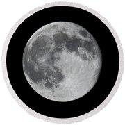 Full Moon Round Beach Towel