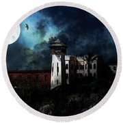 Full Moon Over Hard Time - San Quentin California State Prison - 7d18546 Round Beach Towel