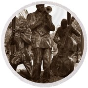 Fulton Square New Orleans Round Beach Towel