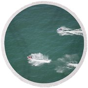 Fun On The Pond Round Beach Towel by Thomas Woolworth