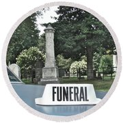 Funeral Round Beach Towel