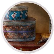 Furniture - Hat Boxes With Billow Round Beach Towel
