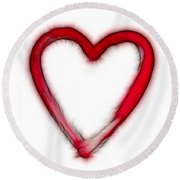 Furry Heart - Symbol Of Love Round Beach Towel