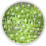 Future Forest Abstract Round Beach Towel