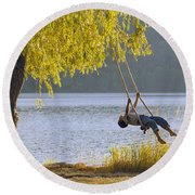 Fv3583, Natural Moments Photography Boy Round Beach Towel