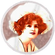 Gabrielle Ray Portrait  Round Beach Towel