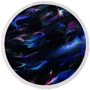 Galaxies Round Beach Towel