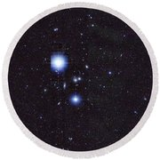Galaxy Cluster Abell 1060, Infrared Round Beach Towel