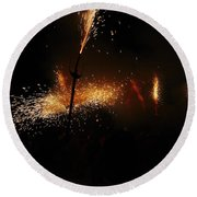 Galaxy Of Sparks Round Beach Towel