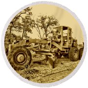Galion Road Grader V2 Round Beach Towel