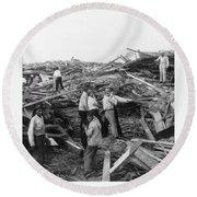 Galveston Disaster - C 1900 Round Beach Towel