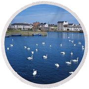 Galway, County Galway, Ireland Round Beach Towel