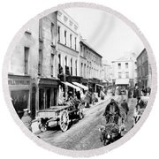 Galway Ireland - High Street - C 1901 Round Beach Towel