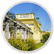 Garden Entry Wilanow Palace - Warsaw Round Beach Towel