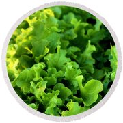 Garden Fresh Salad Bowl Lettuce Round Beach Towel