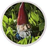 Garden Gnome No 0065 Round Beach Towel