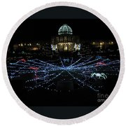 Garden Lights Fest Botanical Garden Richmond Va Round Beach Towel
