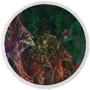 Garden Of Color Round Beach Towel