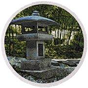 Garden Pagoda Round Beach Towel