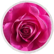 Garden Rose Round Beach Towel