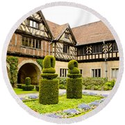 Gardens At Cecilienhof Palace Round Beach Towel