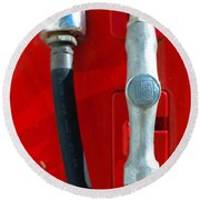 Gas Pump Round Beach Towel