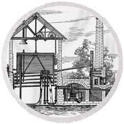 Gas Works, 1815 Round Beach Towel