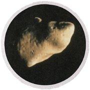Gaspra, S-type Asteroid, 1991 Round Beach Towel