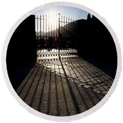 Gate In Backlight Round Beach Towel