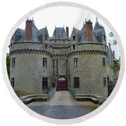 Gate To Chateau De La Bretesche Round Beach Towel