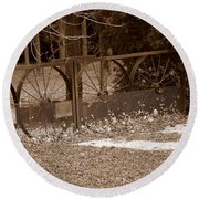 Gate To The Past Round Beach Towel