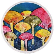 Gathering Of The Colors Round Beach Towel