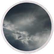 Gathering Storm Round Beach Towel